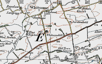 Old map of West Newton in 1926