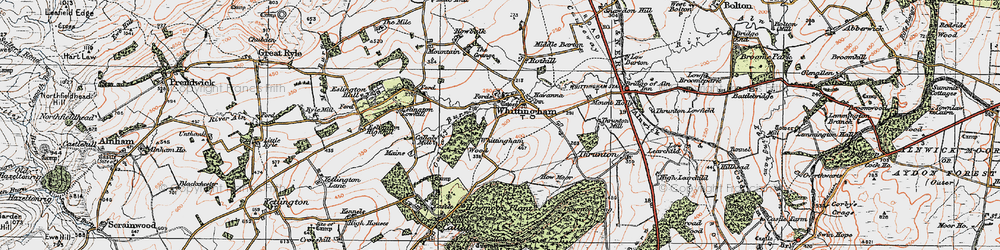 Old map of Whittingham Wood in 1925