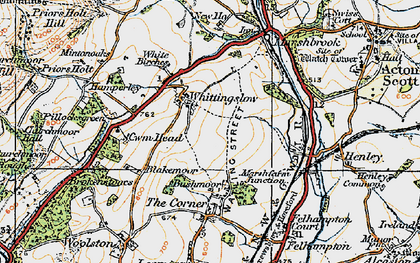 Old map of Whittingslow in 1920