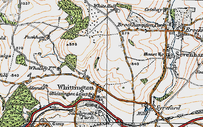 Old map of Whittington Court in 1919