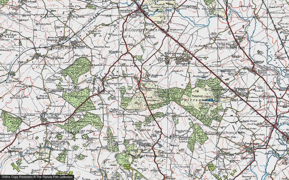 Old Map of Whittlebury, 1919 in 1919