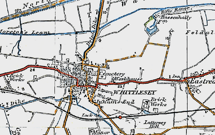 Old map of Whittlesey in 1922