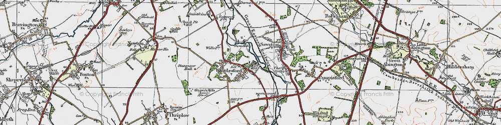 Old map of Whittlesford in 1920
