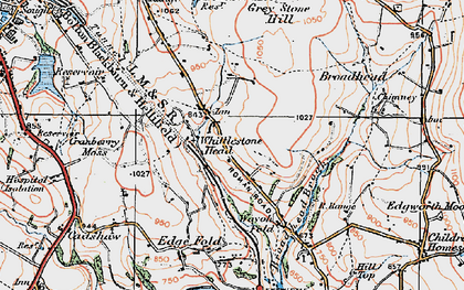Old map of Whittlestone Head in 1924