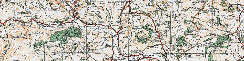 Old map of Whitton in 1920