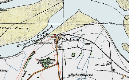 Old map of Willwick Hill Plantn in 1924