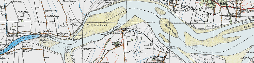 Old map of Whitton in 1924