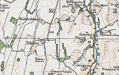 Old map of Whitton in 1926