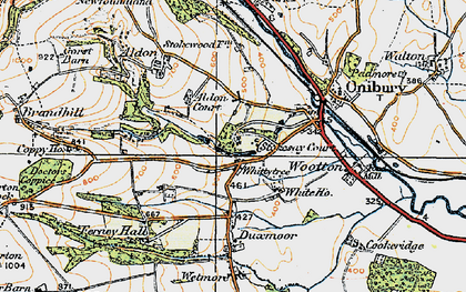 Old map of Whittytree in 1920