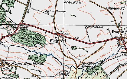 Old map of Whitwell in 1922