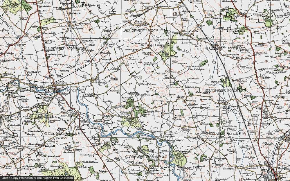 Old Map of Whitwell, 1925 in 1925