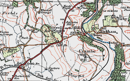Old map of Whitwell-on-the-Hill in 1924