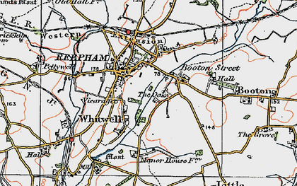 Old map of Whitwell Street in 1921