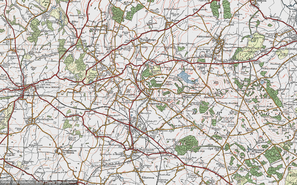 Old Map of Whitwick, 1921 in 1921