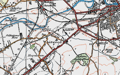 Old map of Whitwood in 1925