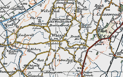 Old map of Whixall in 1921