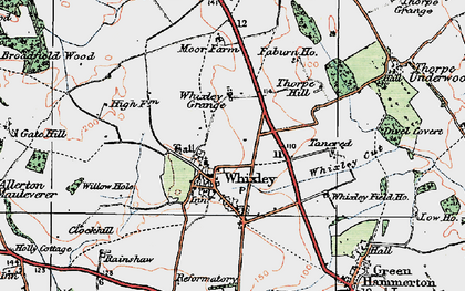 Old map of Whixley in 1925