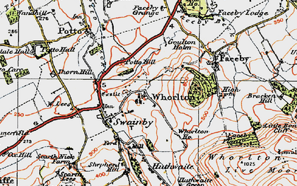 Old map of Whorl Hill in 1925