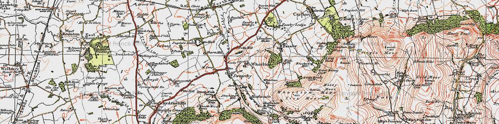 Old map of Whorlton in 1925