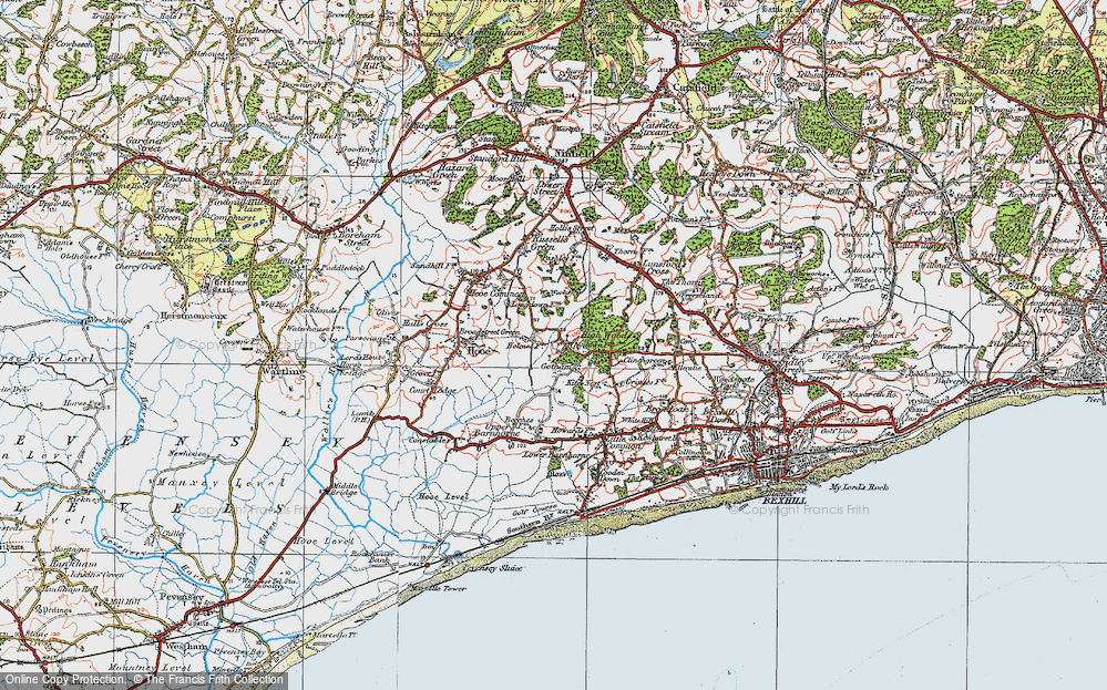 Old Map of Whydown, 1920 in 1920