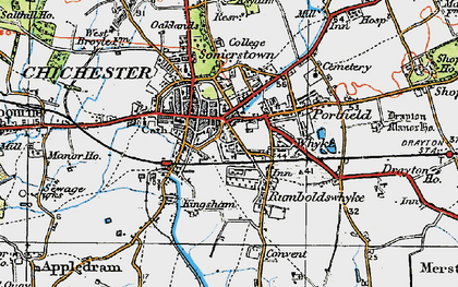 Old map of Whyke in 1919