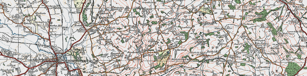 Old map of Whyle in 1920