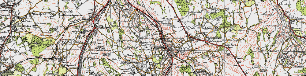 Old map of Whyteleafe South Sta in 1920