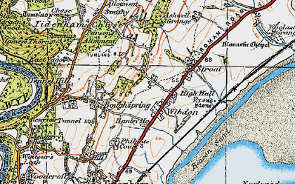 Old map of Wibdon in 1919