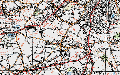 Old map of Wibsey in 1925