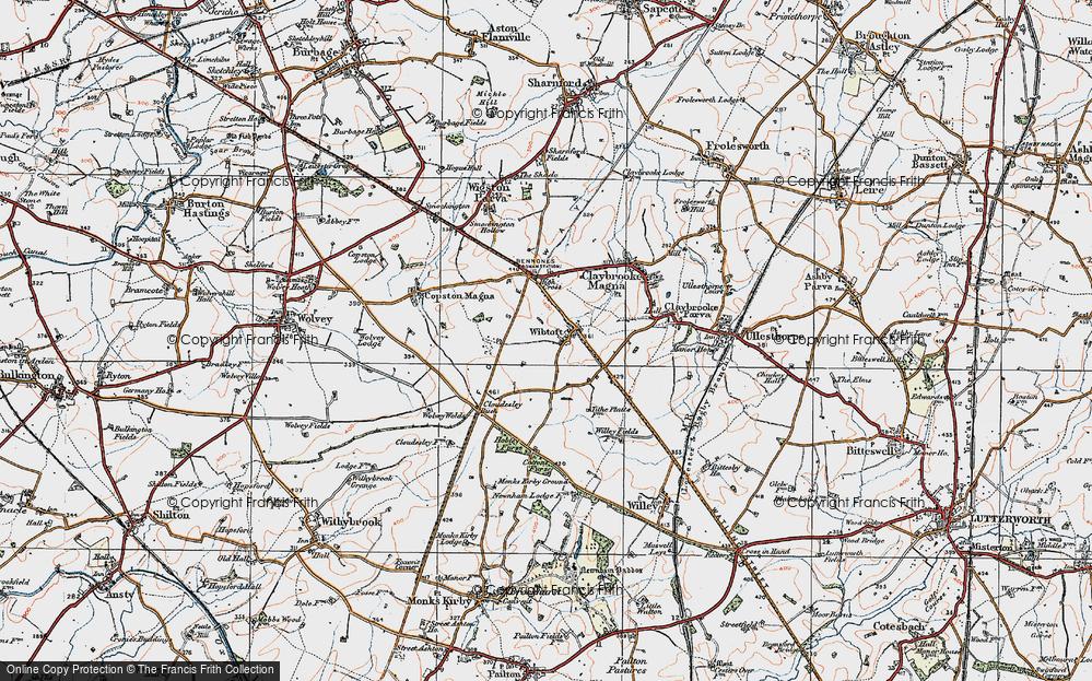 Old Map of Wibtoft, 1920 in 1920