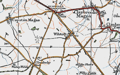 Old map of Wibtoft in 1920