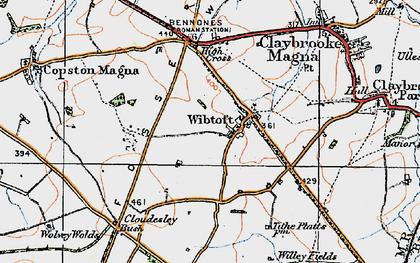 Old map of Wibtoft in 1920