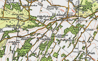 Old map of Wichling in 1921