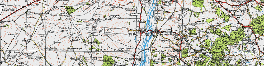 Old map of Wick in 1919