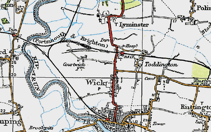 Old map of Wick in 1920