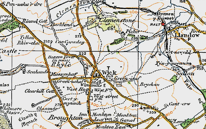 Old map of Wick in 1922