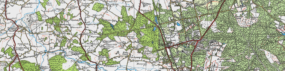 Old map of Wick Hill in 1919