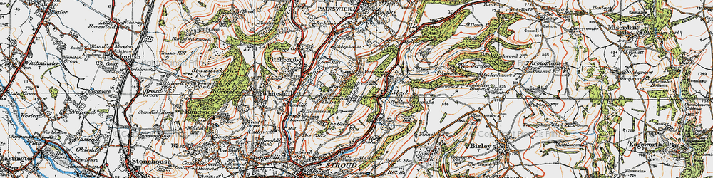 Old map of Wickridge Hill in 1919