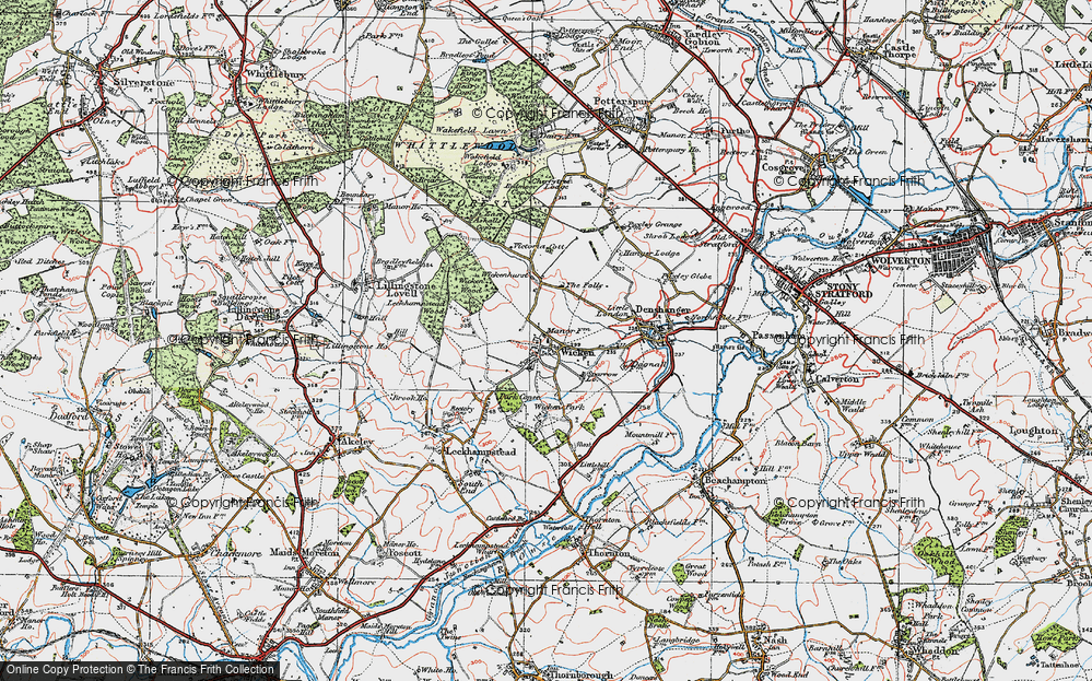 Old Map of Wicken, 1919 in 1919