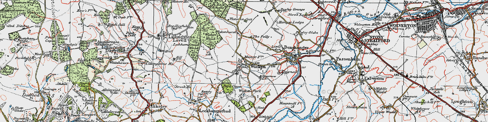 Old map of Wicken in 1919