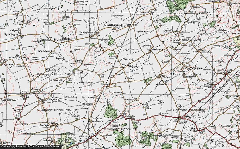 Old Map of Wickenby, 1923 in 1923