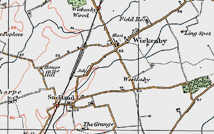 Old map of Wickenby in 1923