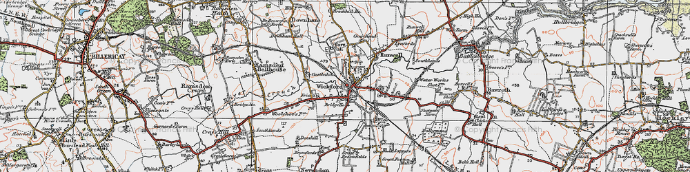 Old map of Wickford in 1921