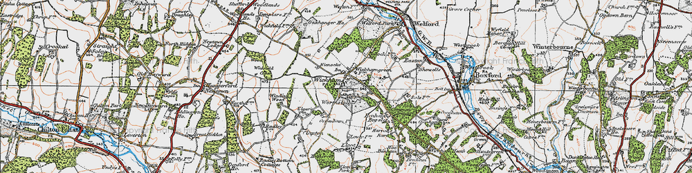 Old map of Wickham Green in 1919