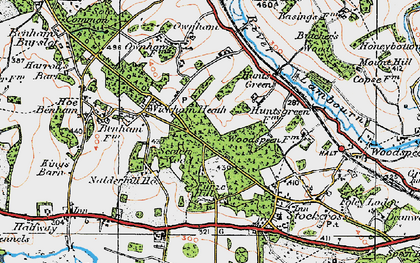 Old map of Wickham Heath in 1919