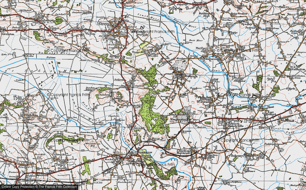 Old Map of Wickham's Cross, 1919 in 1919
