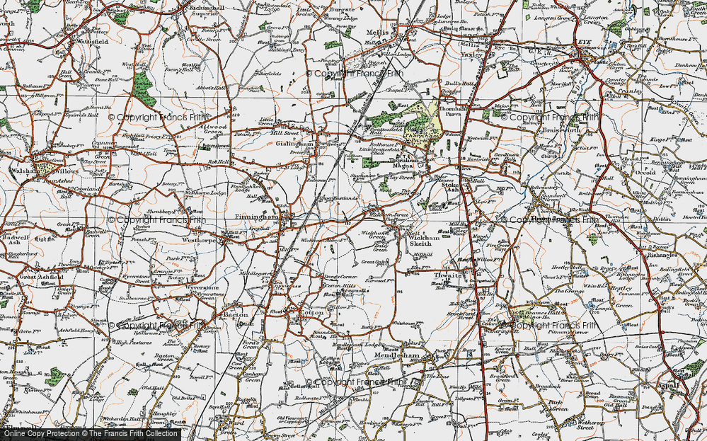 Old Map of Wickham Street, 1920 in 1920