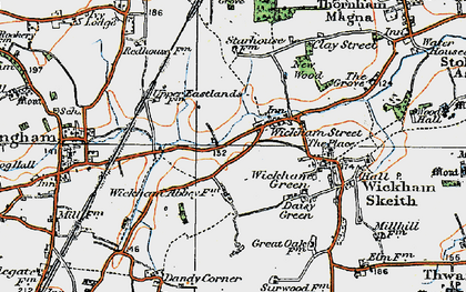 Old map of Wickham Street in 1920