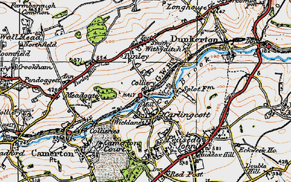 Old map of Wicklane in 1919