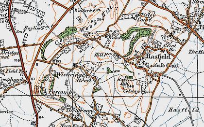 Old map of Wickridge Street in 1919